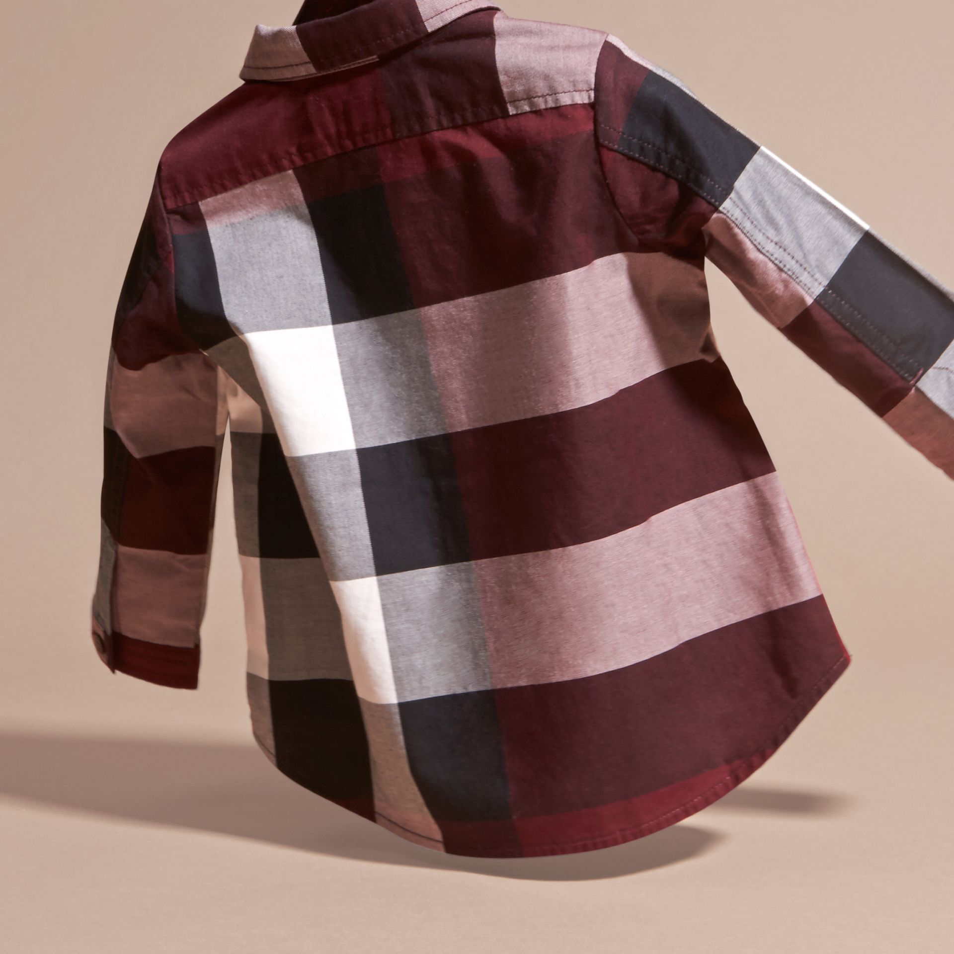 Claret Check Cotton Shirt Claret - gallery image 4