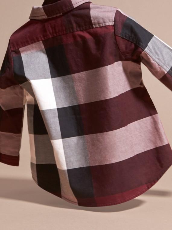 クラレット チェック コットンシャツ クラレット - cell image 3
