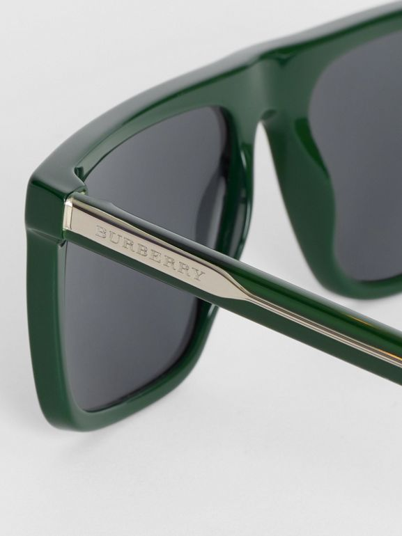 Straight-brow Sunglasses in Green - Men | Burberry United Kingdom - cell image 1