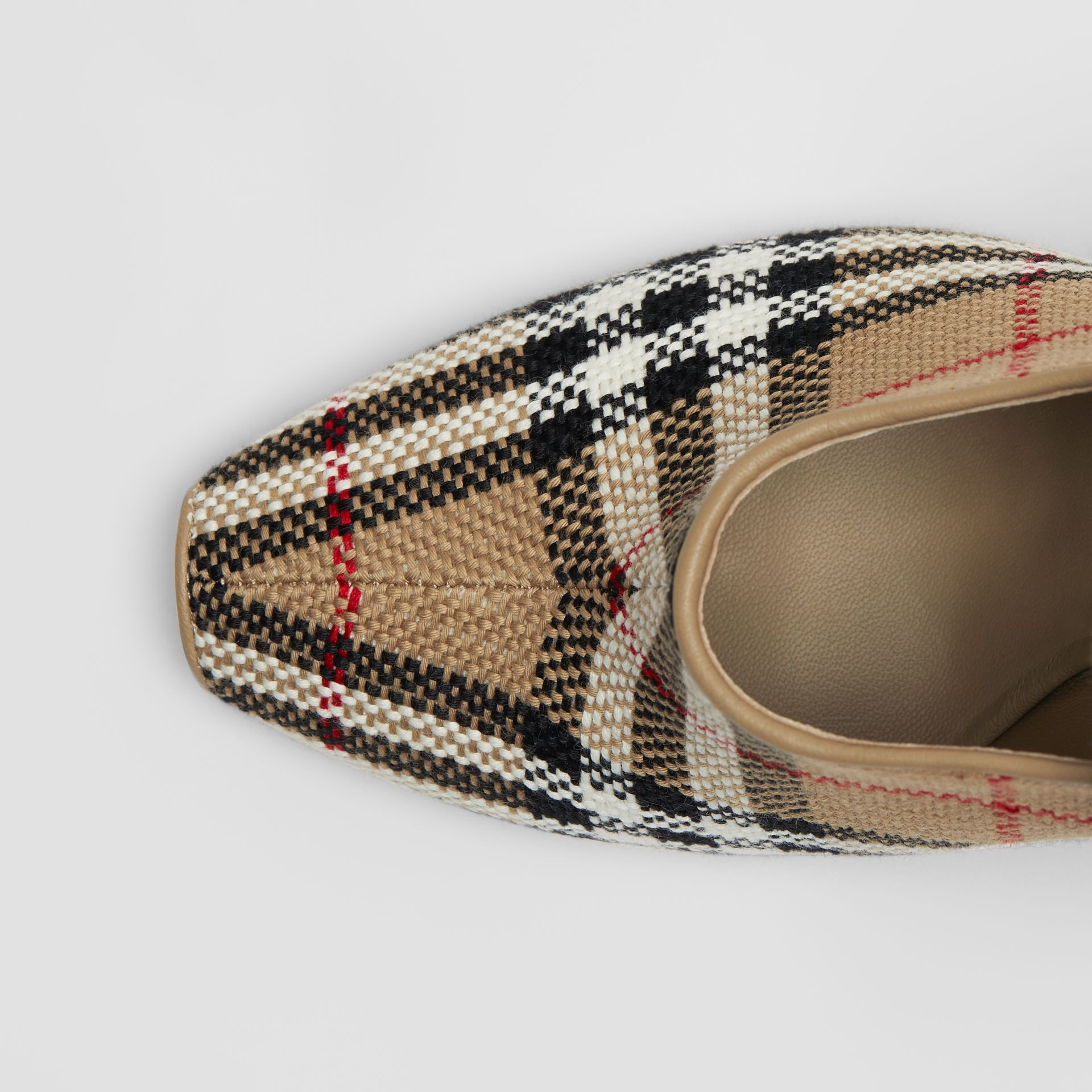 Vintage Check Peep-toe Pumps in Archive Beige - Women | Burberry - gallery image 1