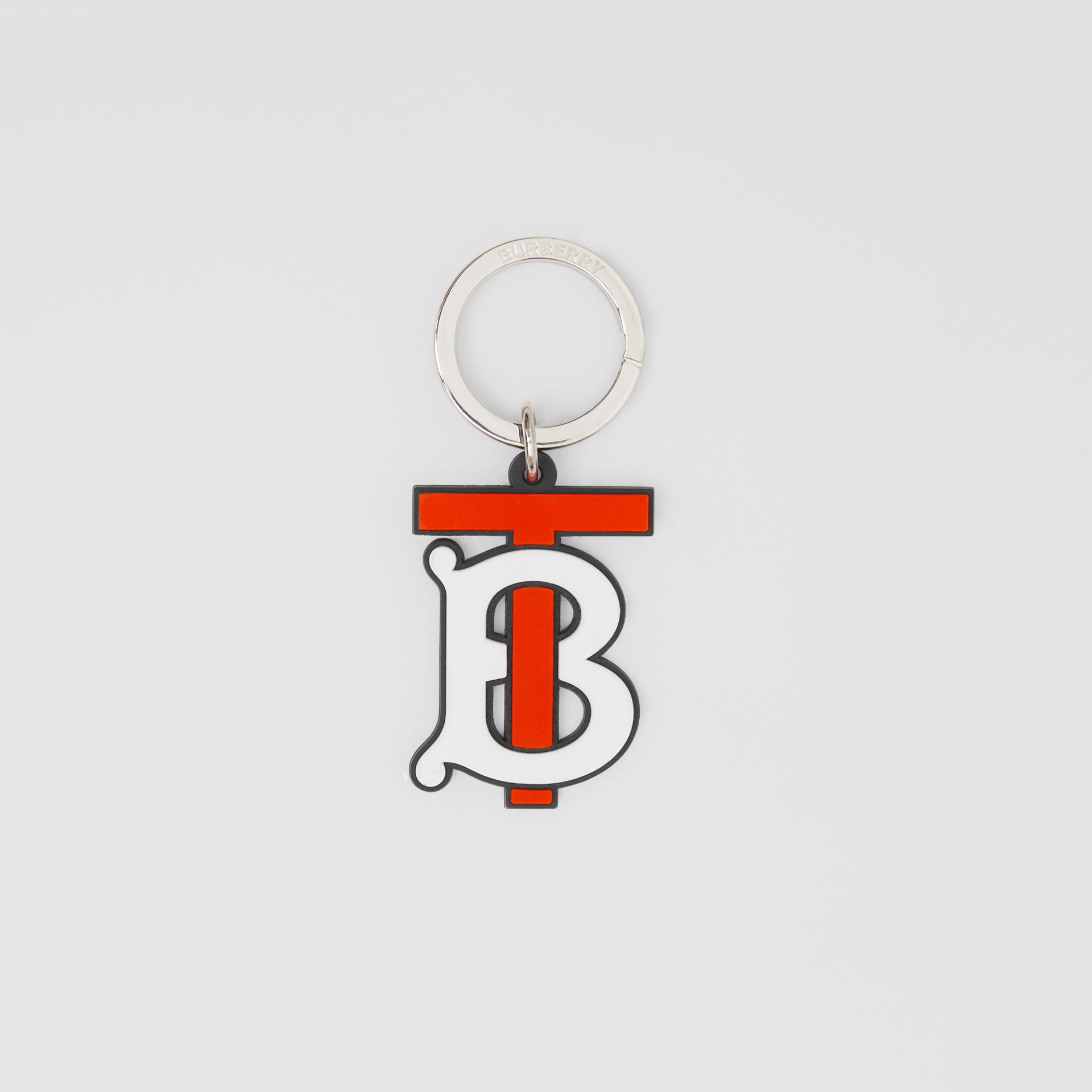 Monogram Motif Key Charm in Vermillion - Men | Burberry United Kingdom - gallery image 0