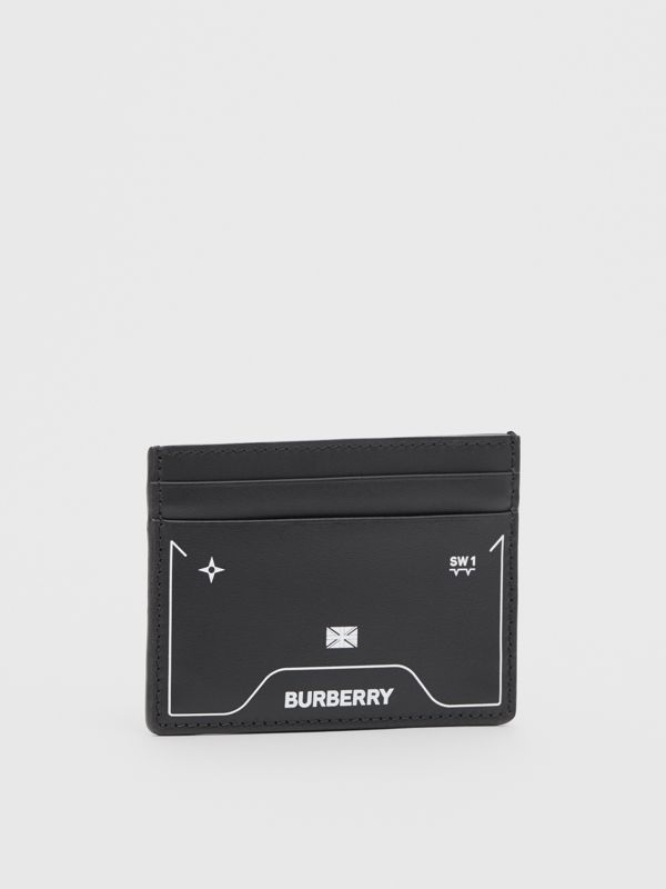 Symbol Print Leather Card Case in Black - Men | Burberry United States - cell image 3