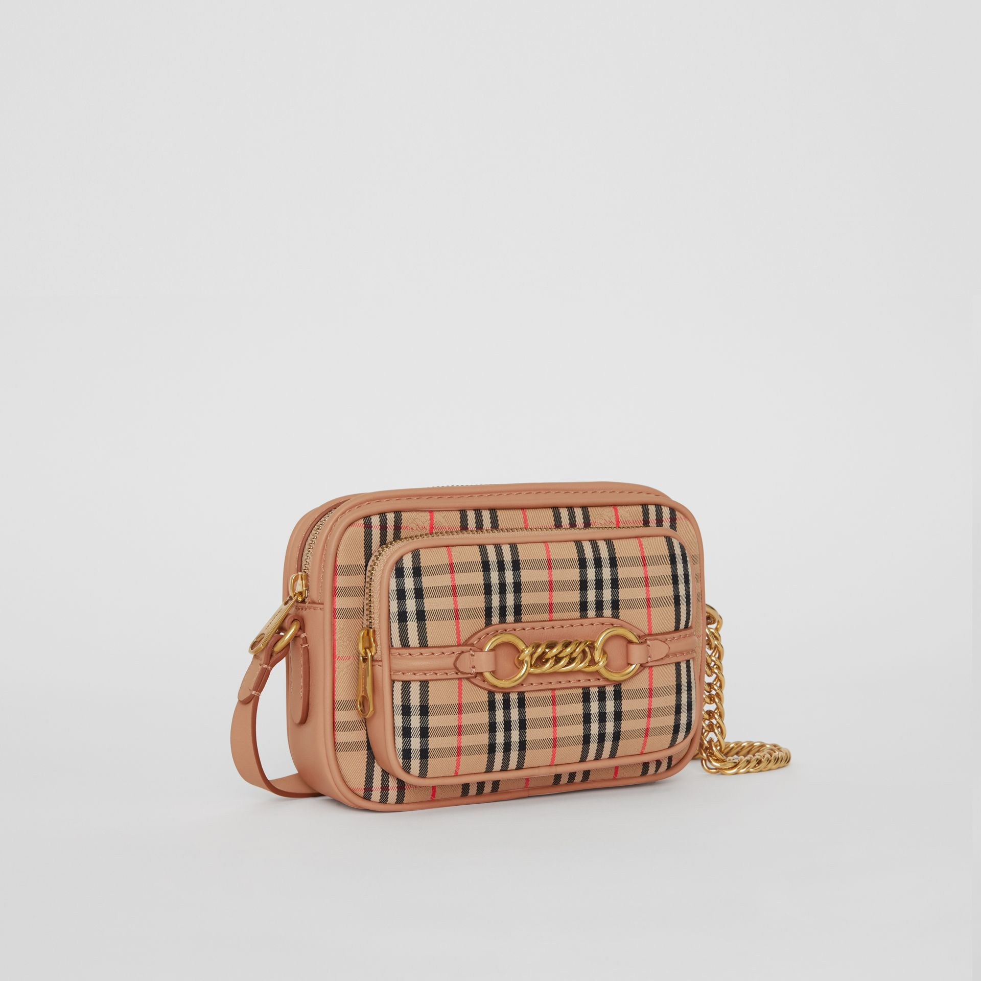 The 1983 Check Link Camera Bag in Peach - Women | Burberry - gallery image 6