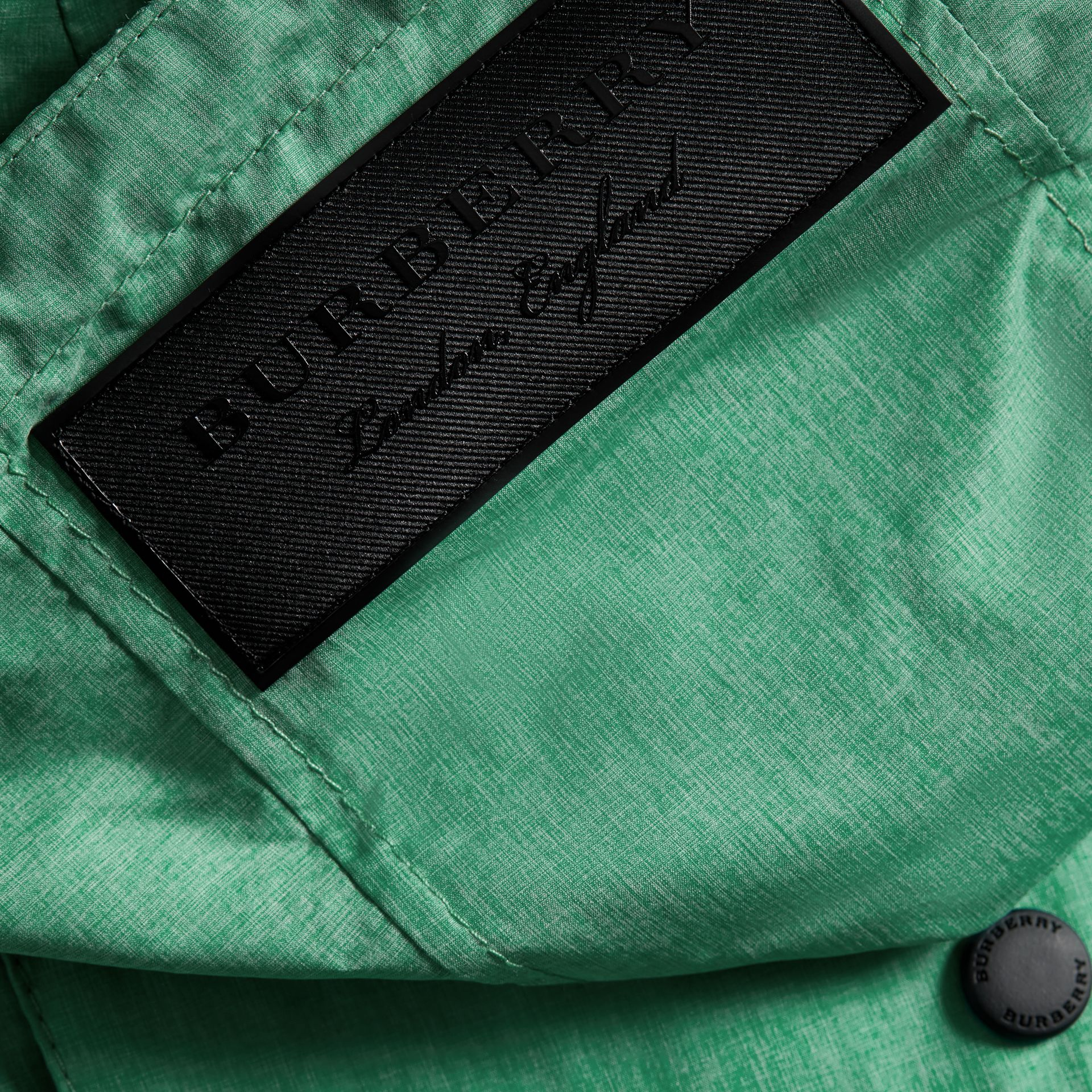 Showerproof Hooded Jacket in Vibrant Green - Boy | Burberry - gallery image 1
