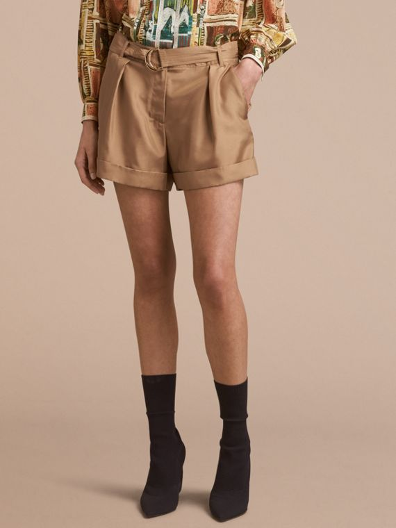 Tailored Silk Shorts