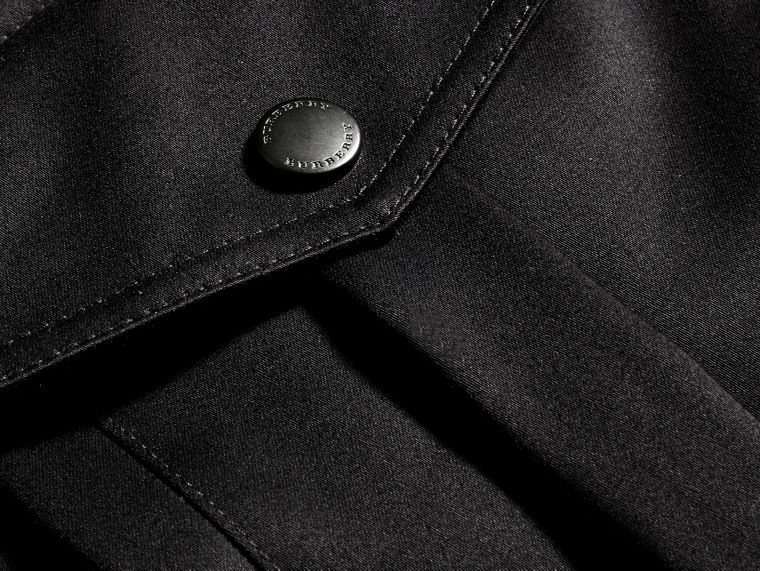 Black Bonded Cotton Field Jacket with Removable Warmer - cell image 1