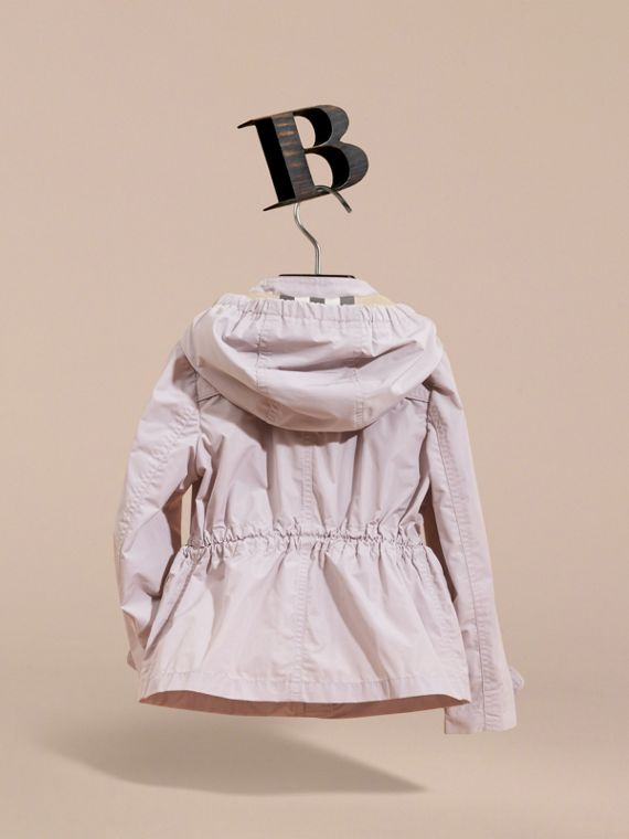 Hooded Packaway Technical Jacket in Stone White - Girl | Burberry Canada - cell image 3