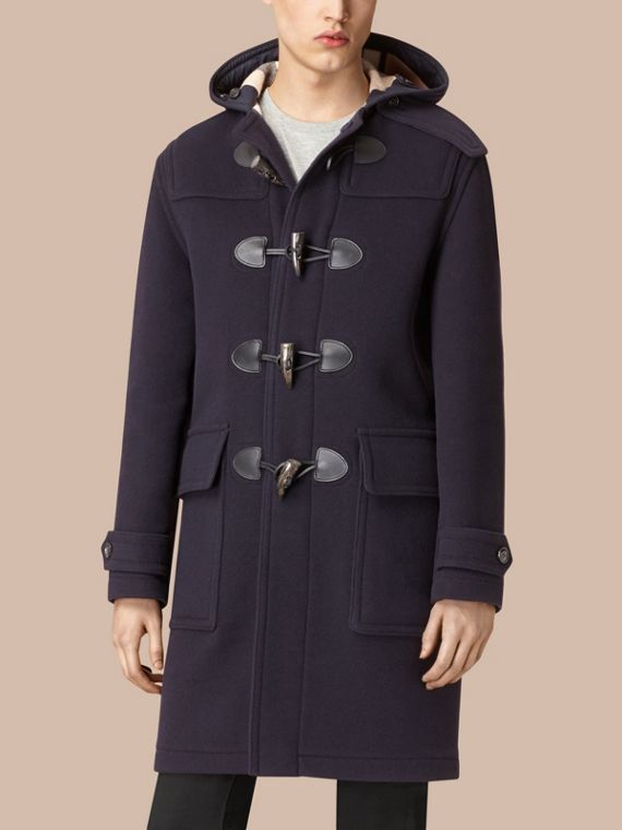 Navy Wool-Blend Duffle Coat Navy - cell image 3