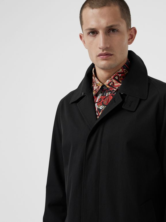 Archive Logo-lined Tropical Gabardine Car Coat in Black - Men | Burberry - cell image 1