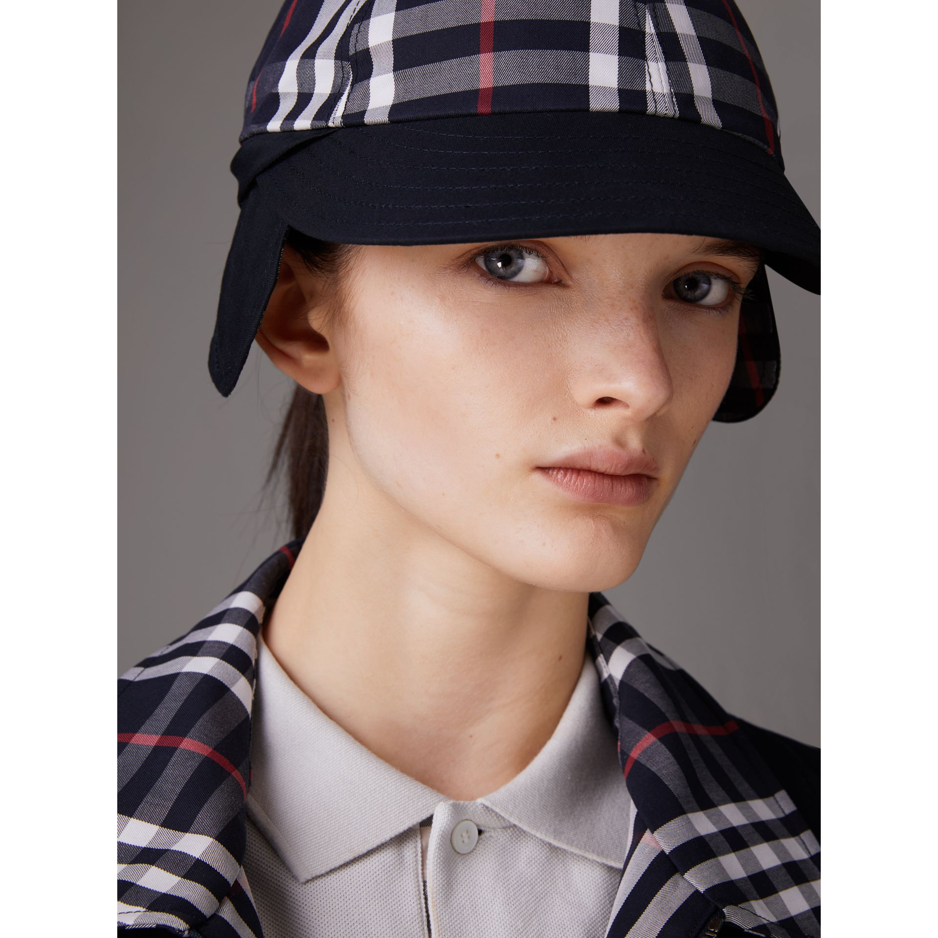 Gosha x Burberry Baseball Cap in Navy | Burberry Australia - gallery image 5