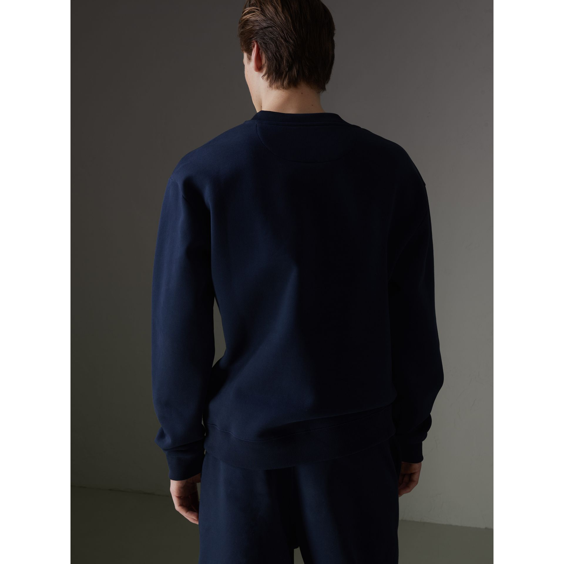 Sweat-shirt en jersey revisité (Bleu Foncé) - Homme | Burberry - photo de la galerie 2