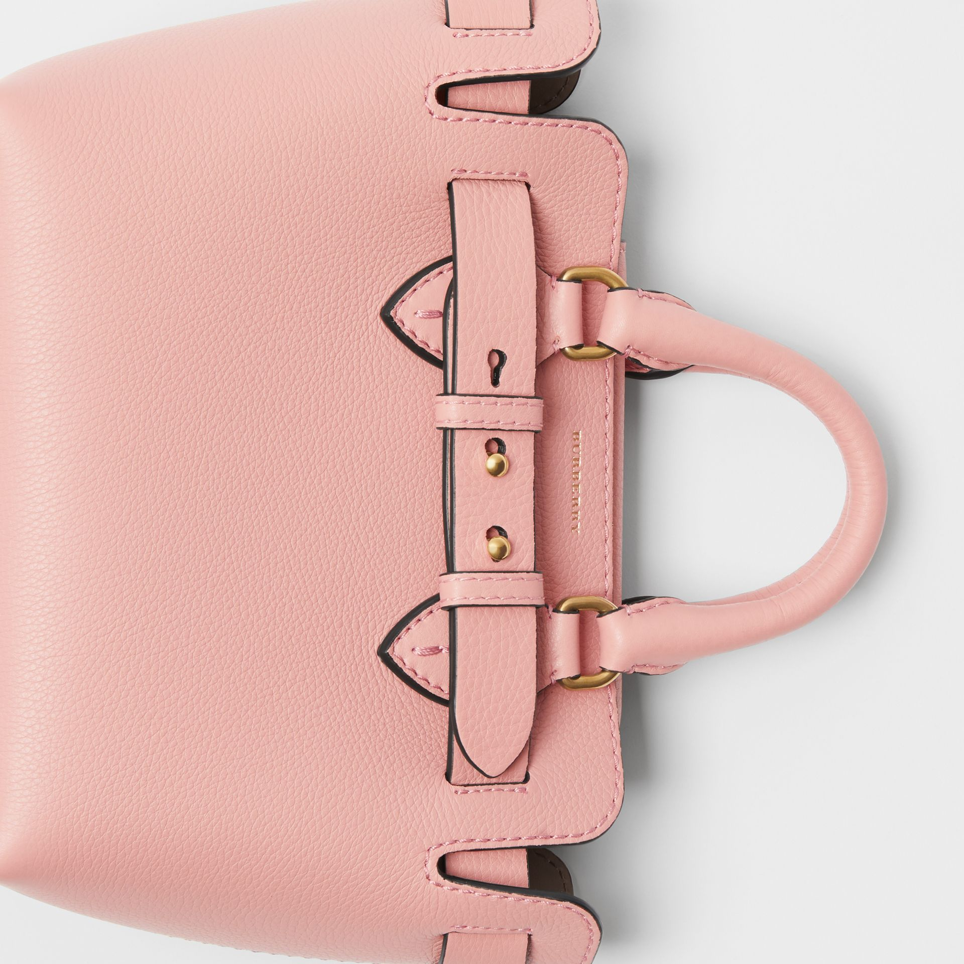 The Mini Leather Belt Bag in Ash Rose - Women | Burberry - gallery image 1