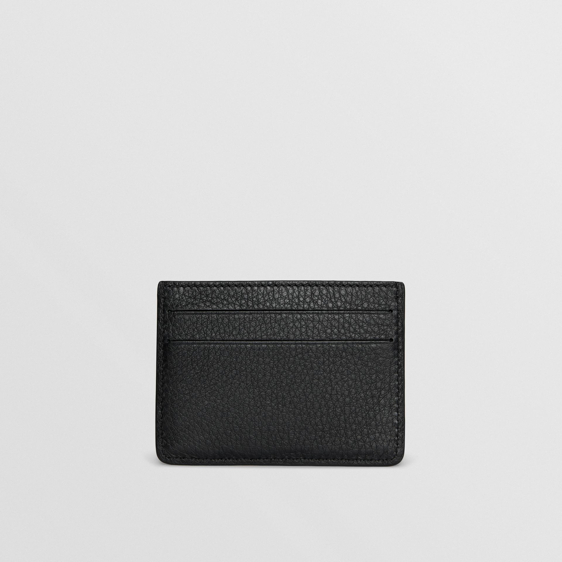 Grainy Leather Card Case in Black - Men | Burberry Hong Kong - gallery image 4