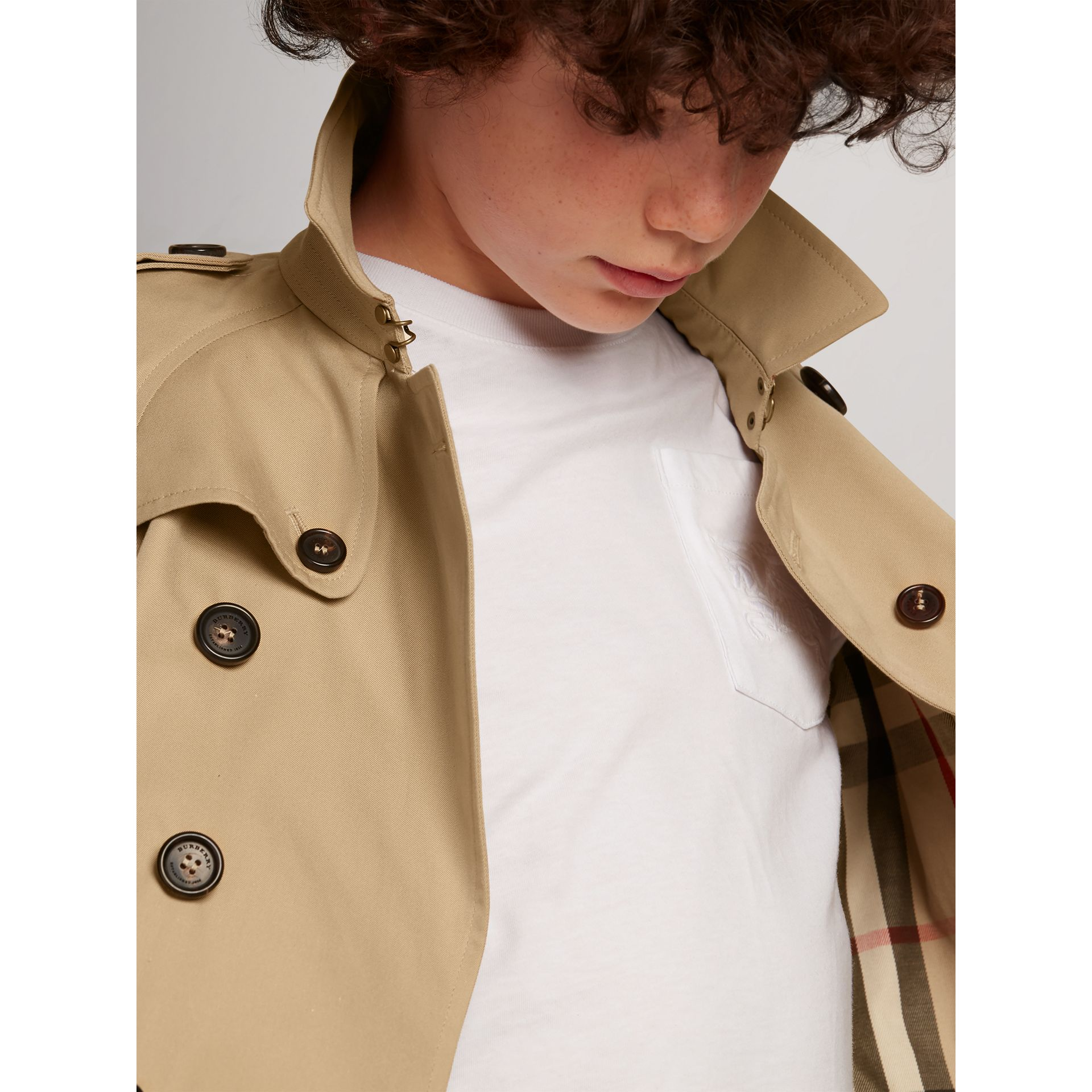 The Wiltshire Trench Coat in Honey - Boy | Burberry - gallery image 1