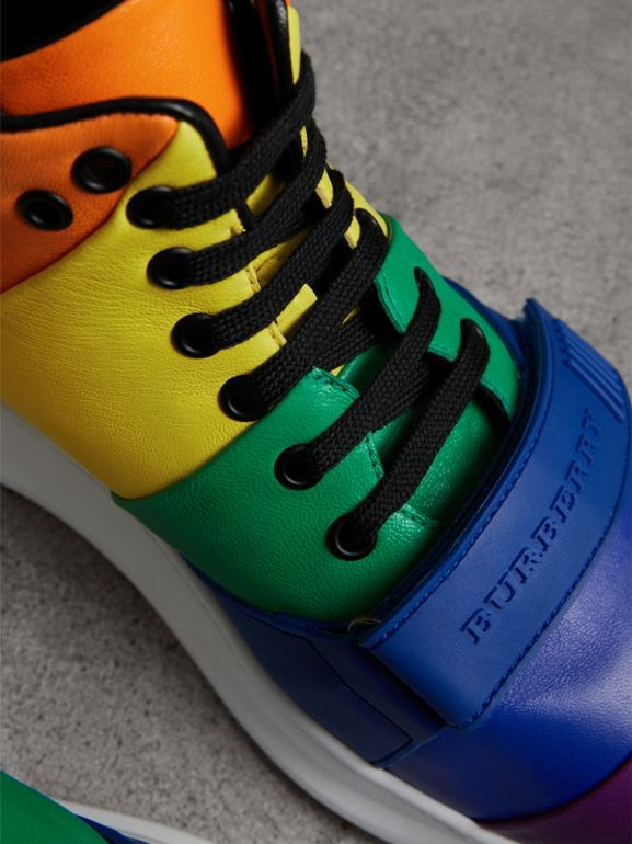 Rainbow Leather High-top Sneakers | Burberry United States - cell image 1