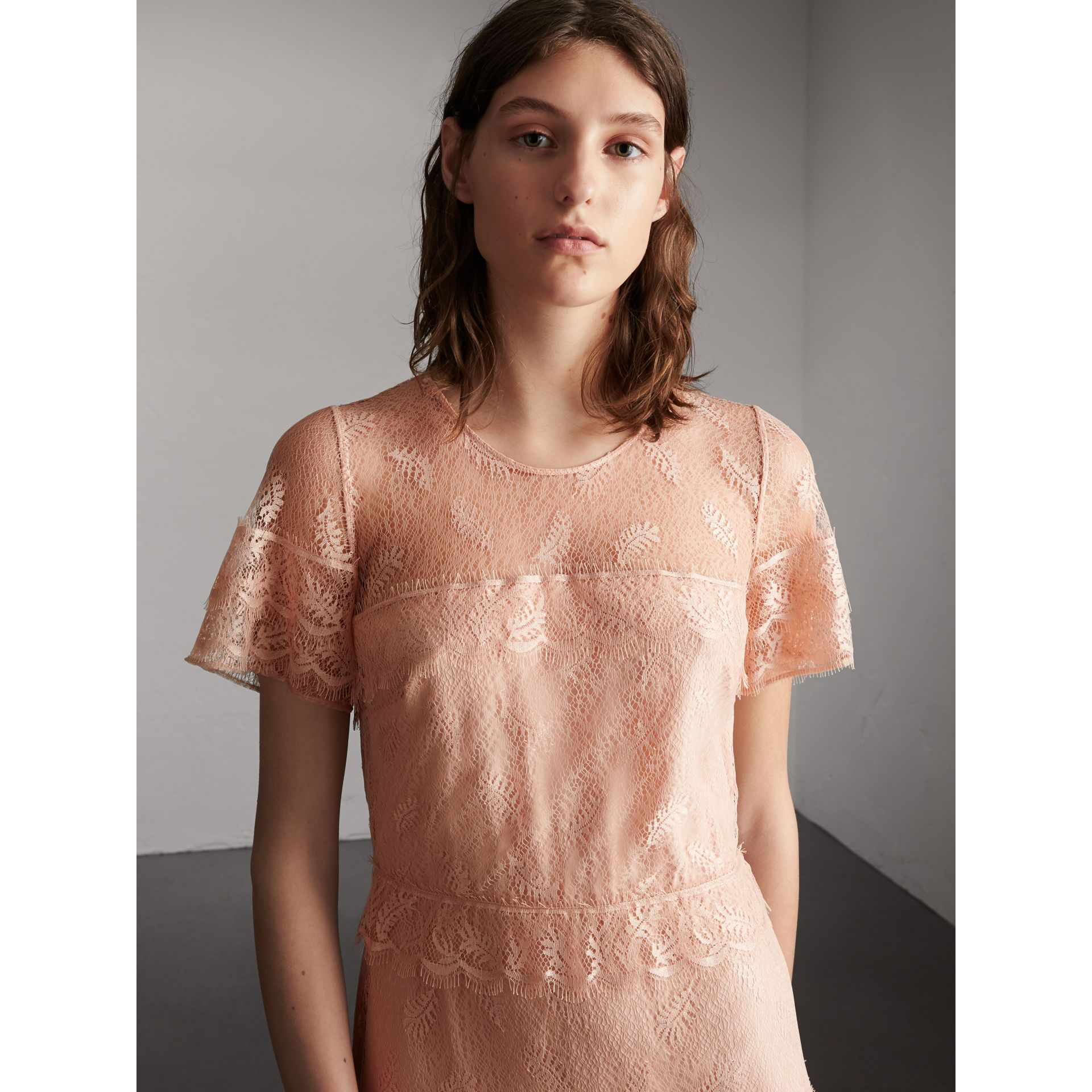 Tiered Lace Shift Dress - Women | Burberry - gallery image 5