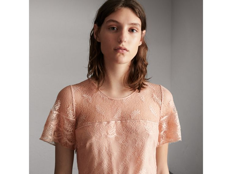 Tiered Lace Shift Dress - Women | Burberry - cell image 4