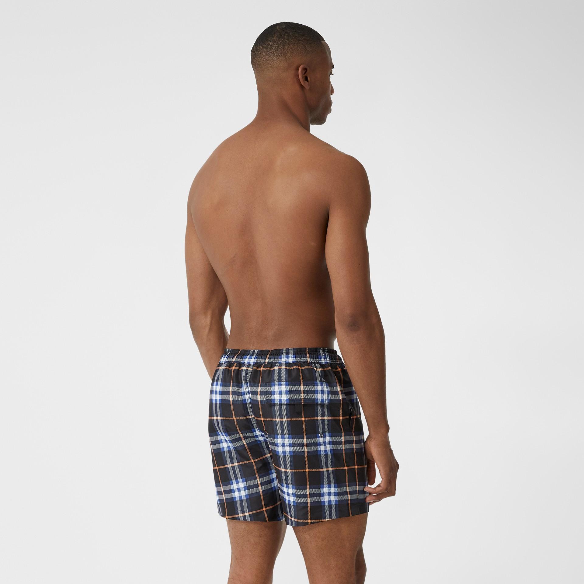 Check Drawcord Swim Shorts in Melon - Men | Burberry - gallery image 1