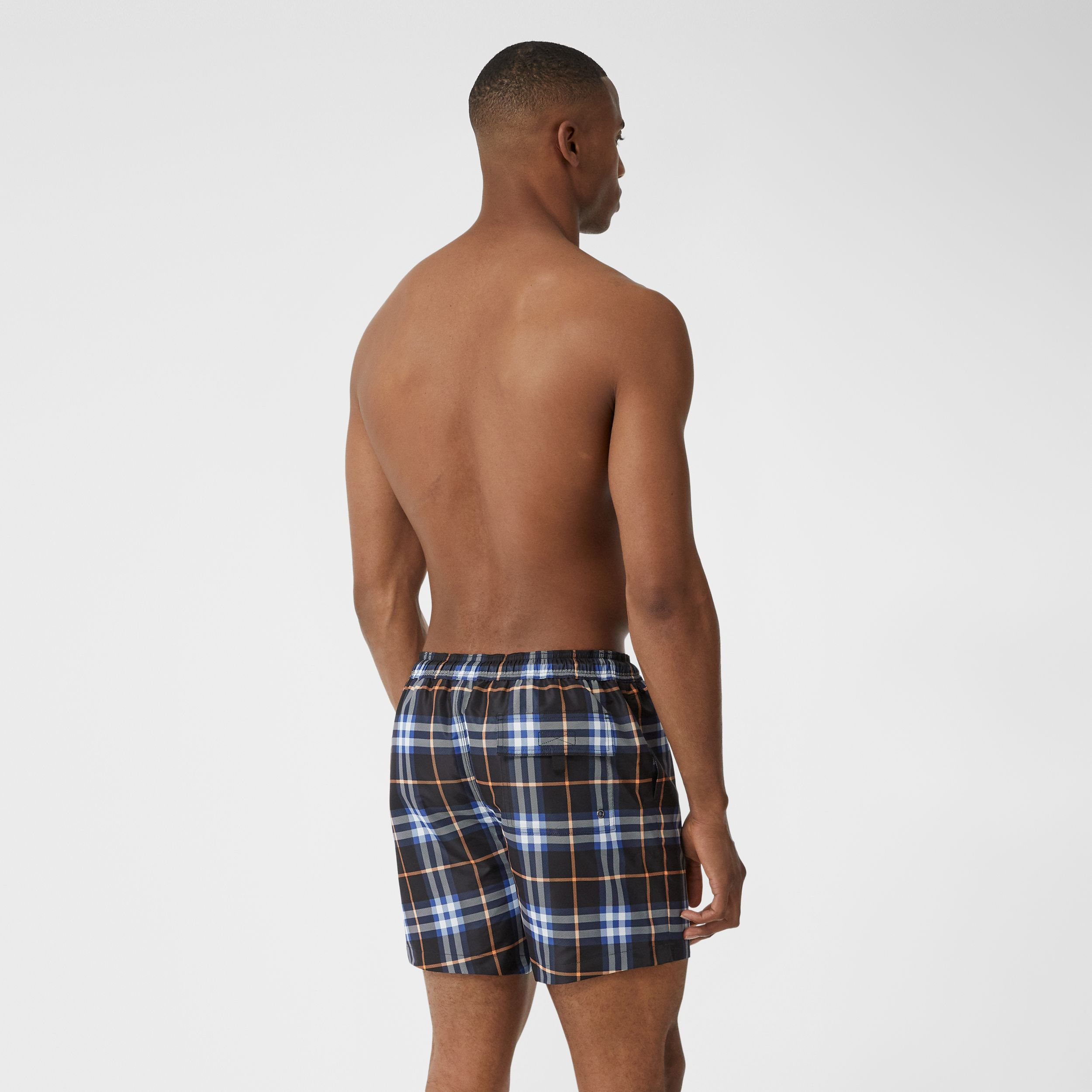 Check Drawcord Swim Shorts in Melon - Men | Burberry - 2