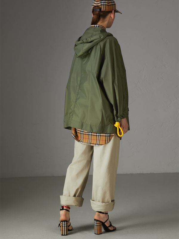 Oversized Nylon Cagoule in Light Olive - Women | Burberry - cell image 2