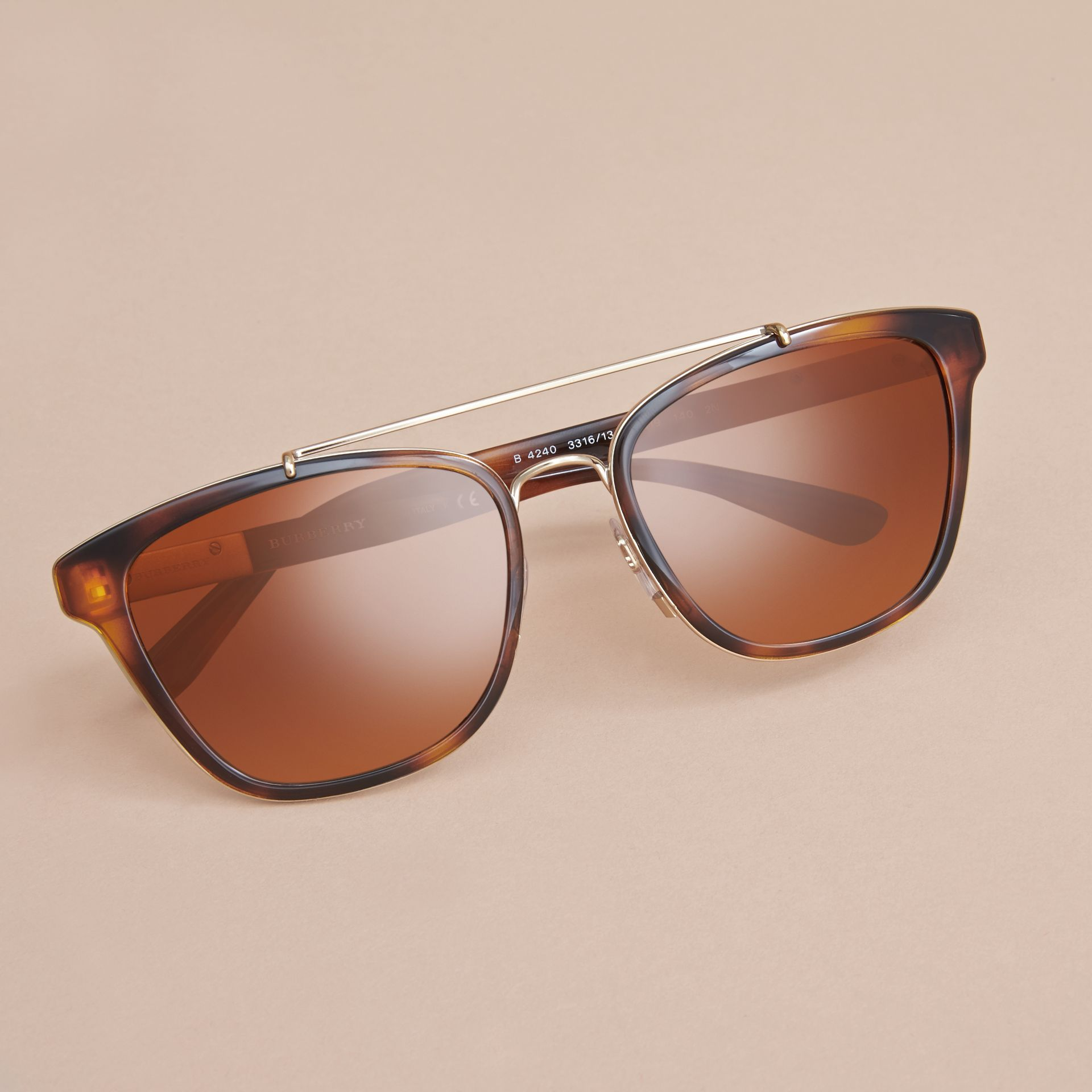 Top Bar Square Frame Sunglasses in Tortoiseshell - gallery image 3