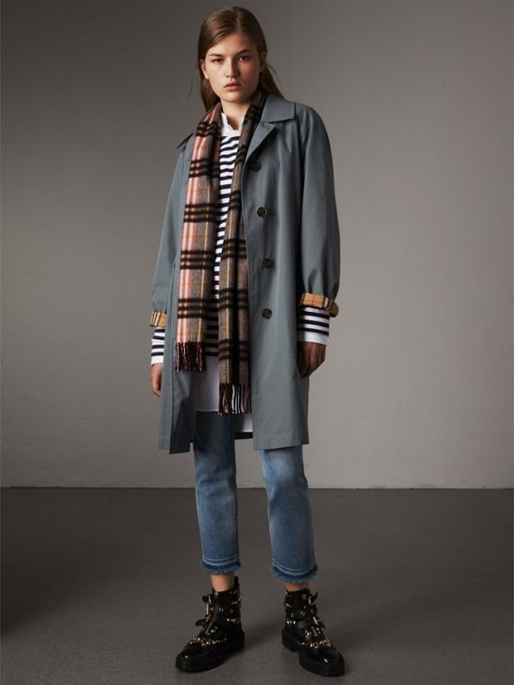 Check Cashmere Scarf in Ash Rose | Burberry Australia - cell image 2
