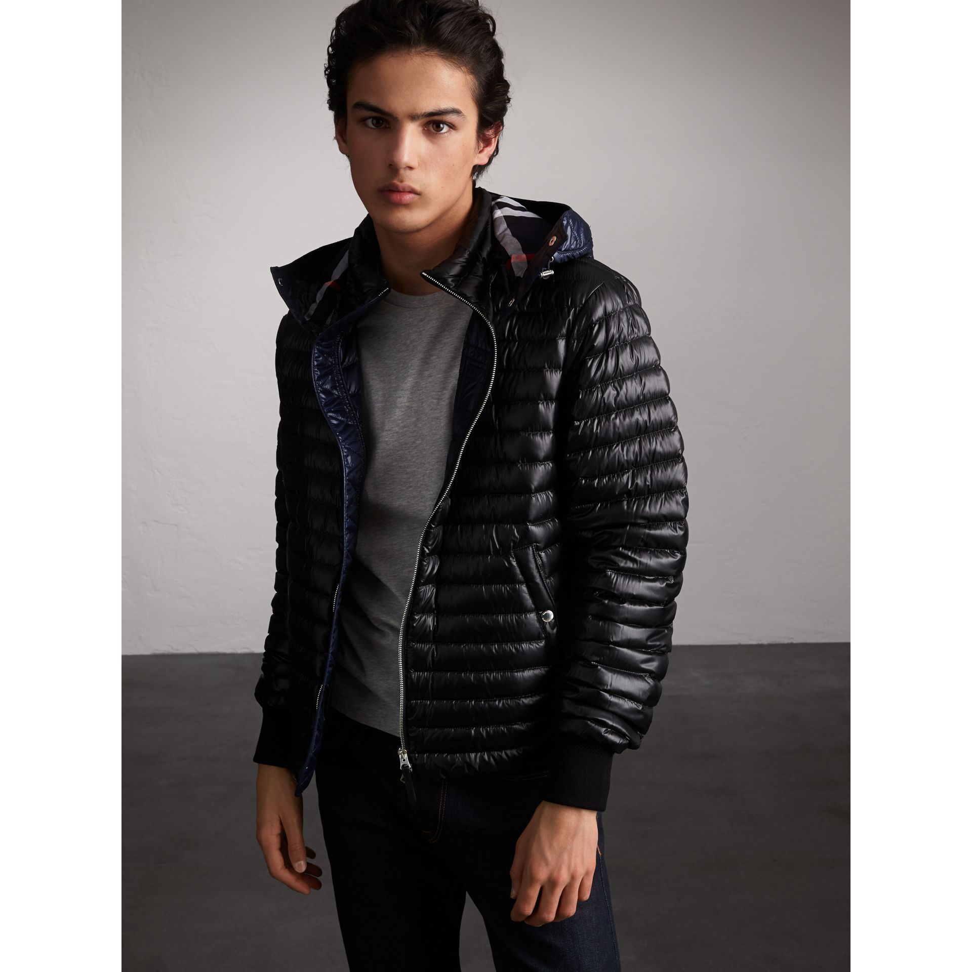 Packaway Hood Down-filled Puffer Jacket in Black - Men | Burberry - gallery image 6