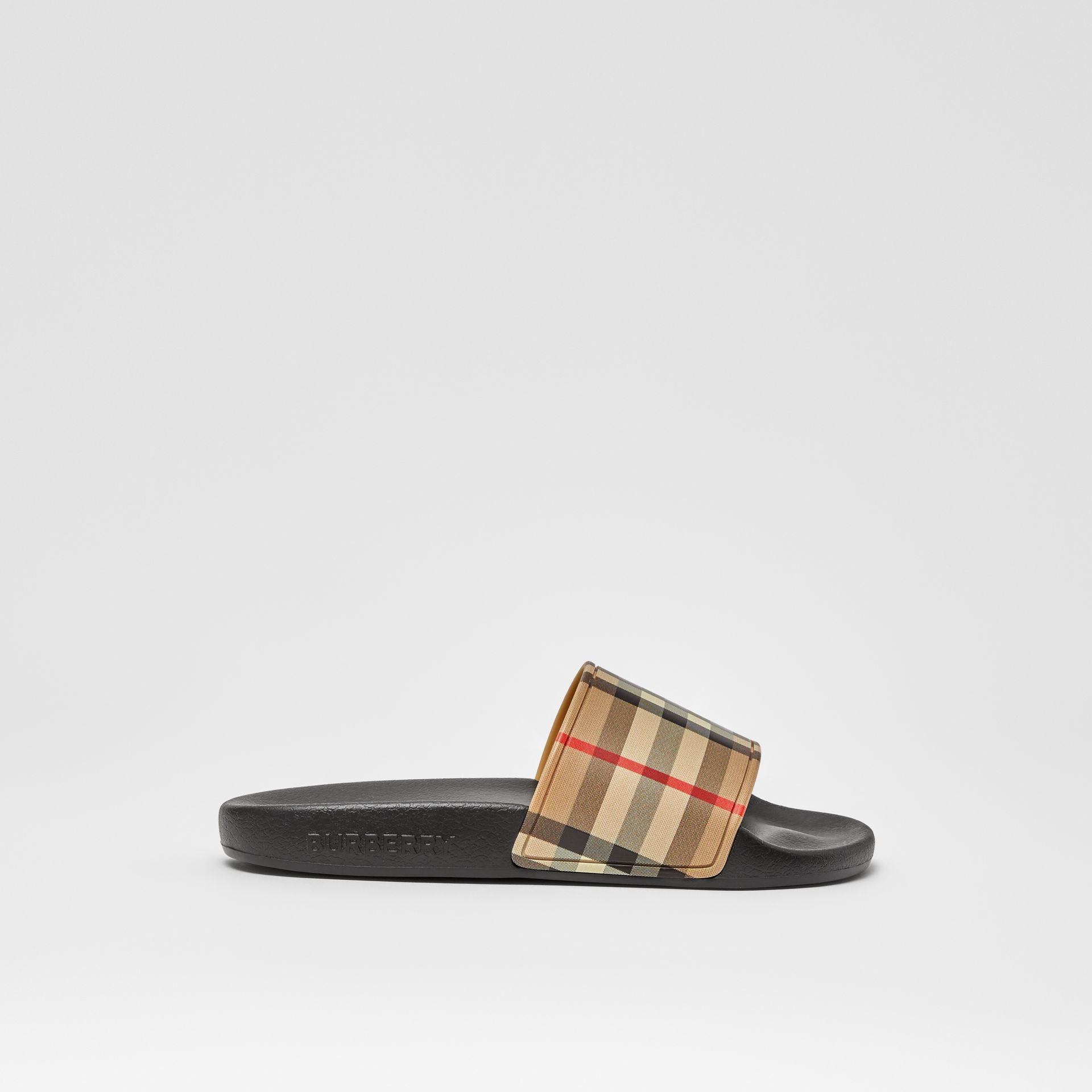 Vintage Check Slides in Archive Beige - Children | Burberry - gallery image 3