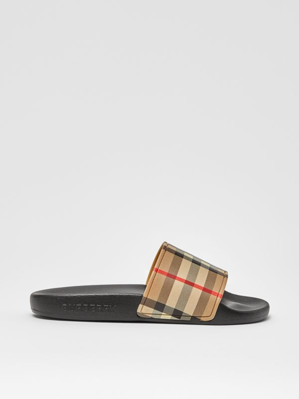Vintage Check Slides in Archive Beige - Children | Burberry - cell image 3