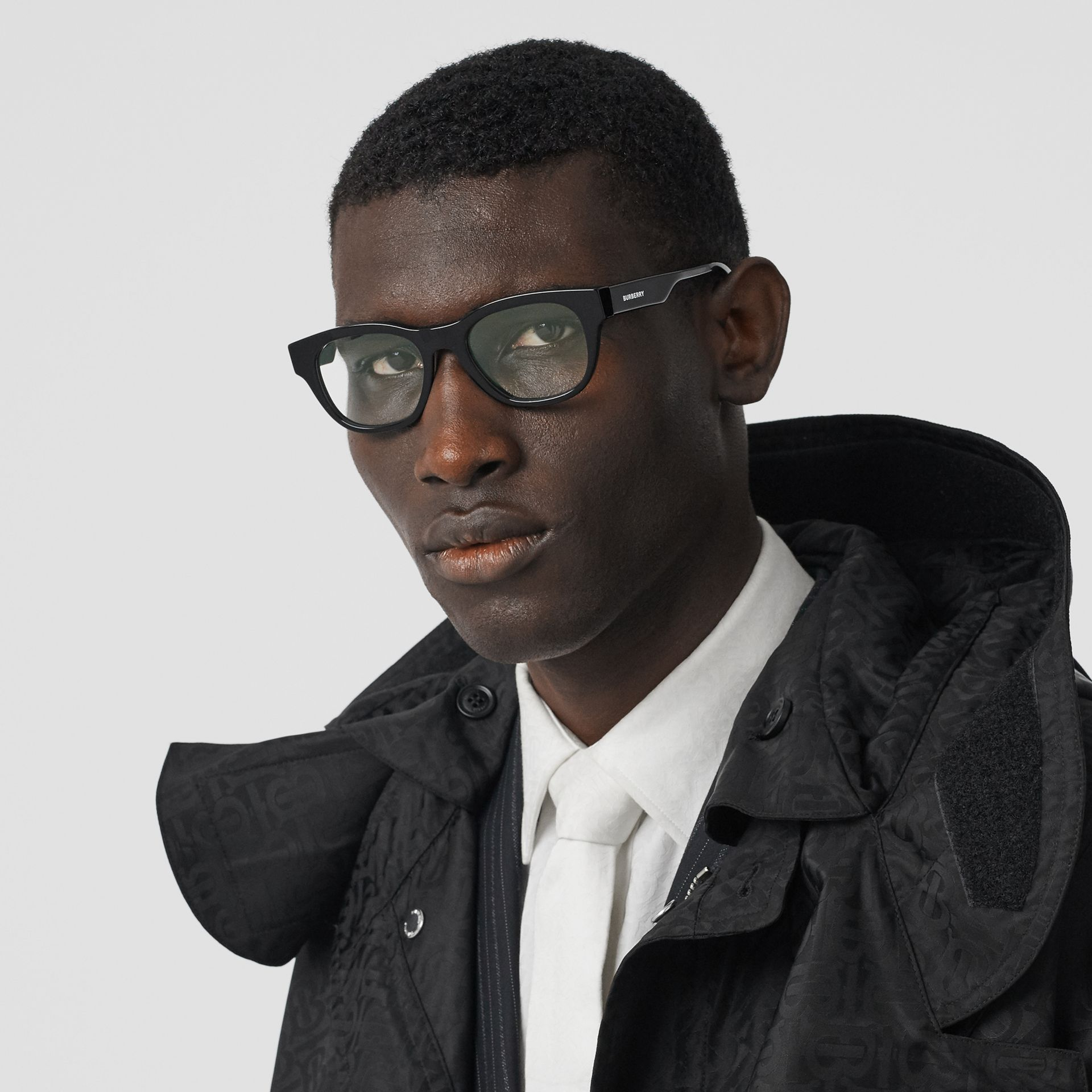 Square Optical Frames in Black - Men | Burberry - gallery image 2