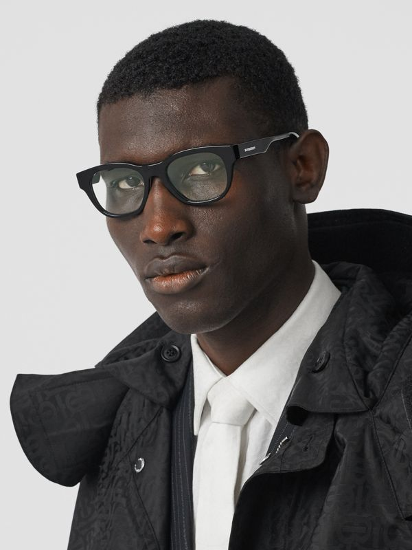 Square Optical Frames in Black - Men | Burberry - cell image 2