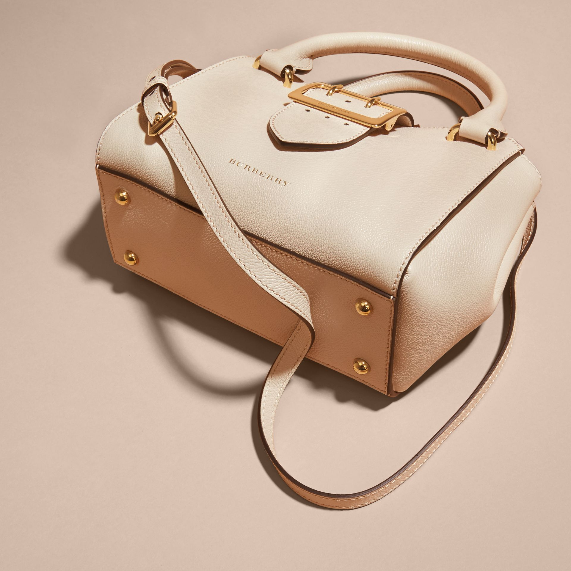The Small Buckle Tote in Grainy Leather in Limestone - gallery image 7