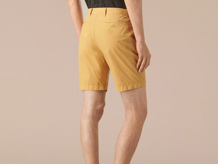 Cornflower yellow Cotton Poplin Chino Shorts Cornflower Yellow - cell image 1
