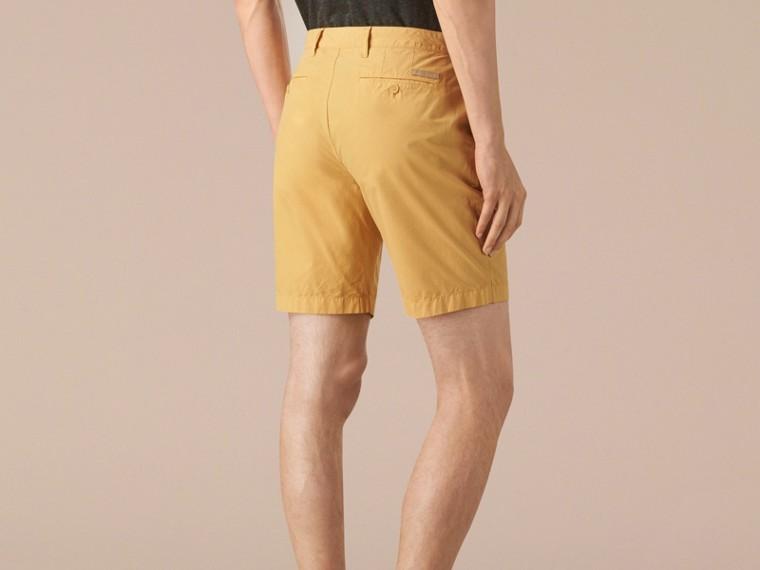 Giallo fiordaliso Pantaloncini chino in popeline di cotone Giallo Fiordaliso - cell image 1
