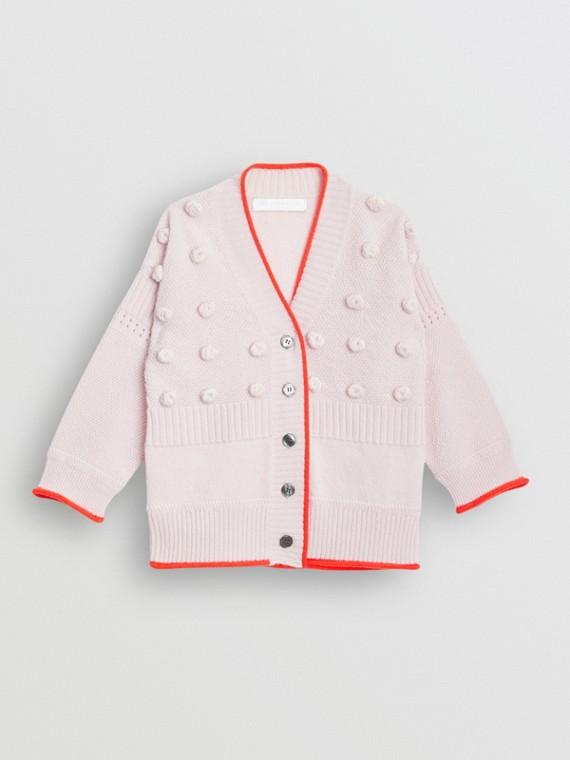 Cardigã de cashmere e lã com texturas contrastantes (Lilás Claro)