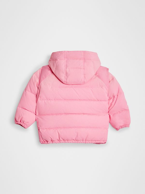 Detachable Hood Down-filled Puffer Jacket in Ice Pink | Burberry Canada - cell image 3