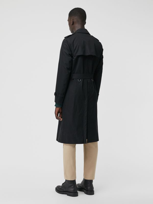 The Long Chelsea Heritage Trench Coat in Black - Men | Burberry - cell image 2