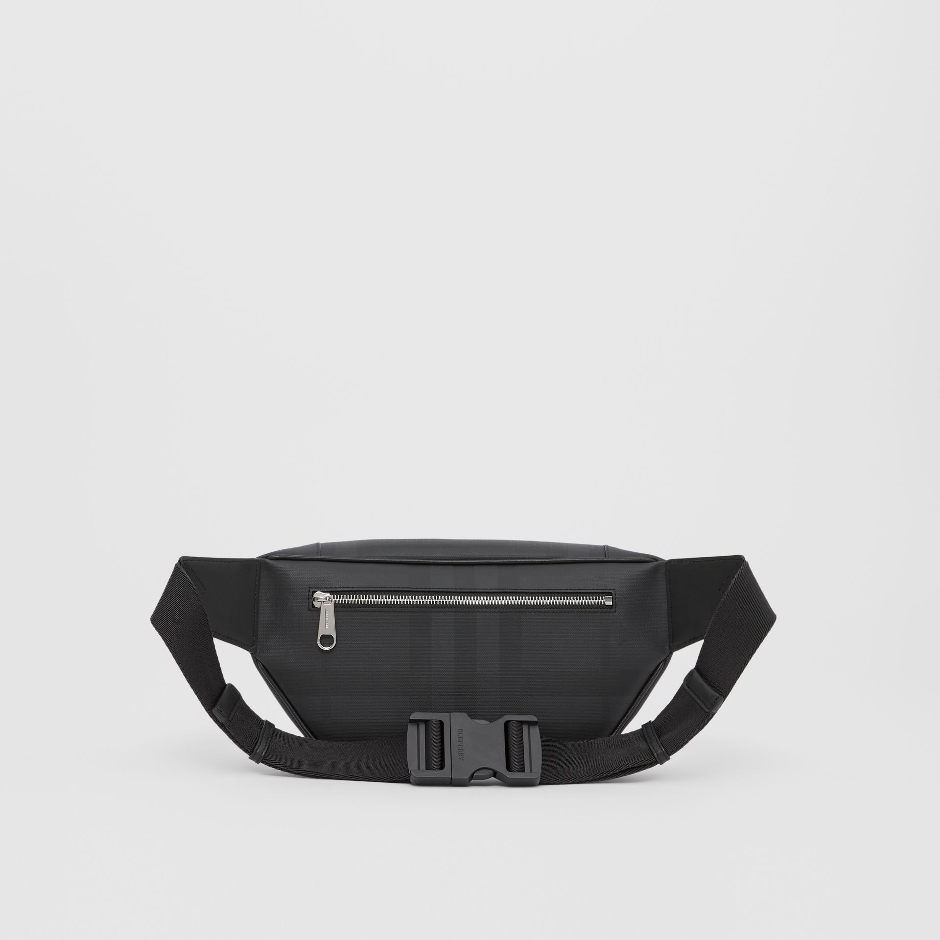 Logo Graphic London Check Sonny Bum Bag in Dark Charcoal - Men | Burberry United Kingdom - gallery image 9