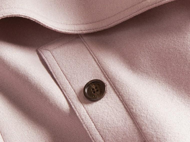 Orchidée pâle Trench-coat portefeuille en laine - cell image 1