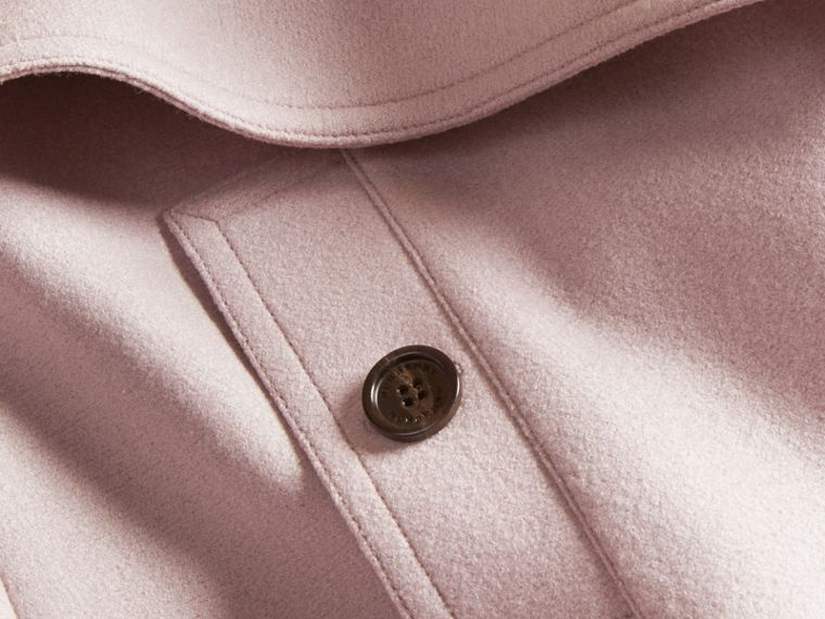 淡紫色 羊毛裹身風衣 - cell image 1