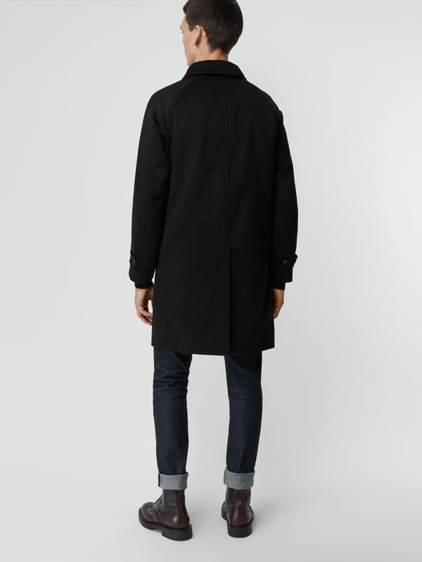 Cashmere Car Coat in Black - Men | Burberry - cell image 2