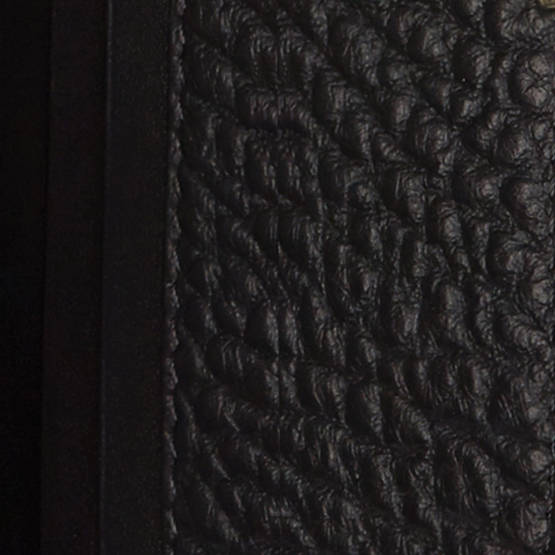 Black Signature Grain Leather Ziparound Wallet Black - gallery image 2