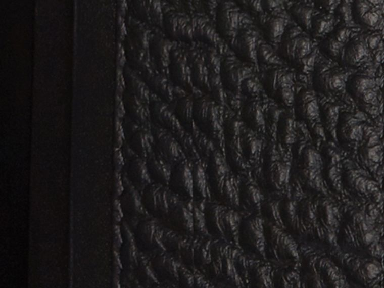 Black Signature Grain Leather Ziparound Wallet Black - cell image 1