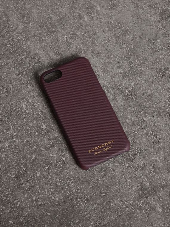 Trench Leather iPhone 7 Case in Wine