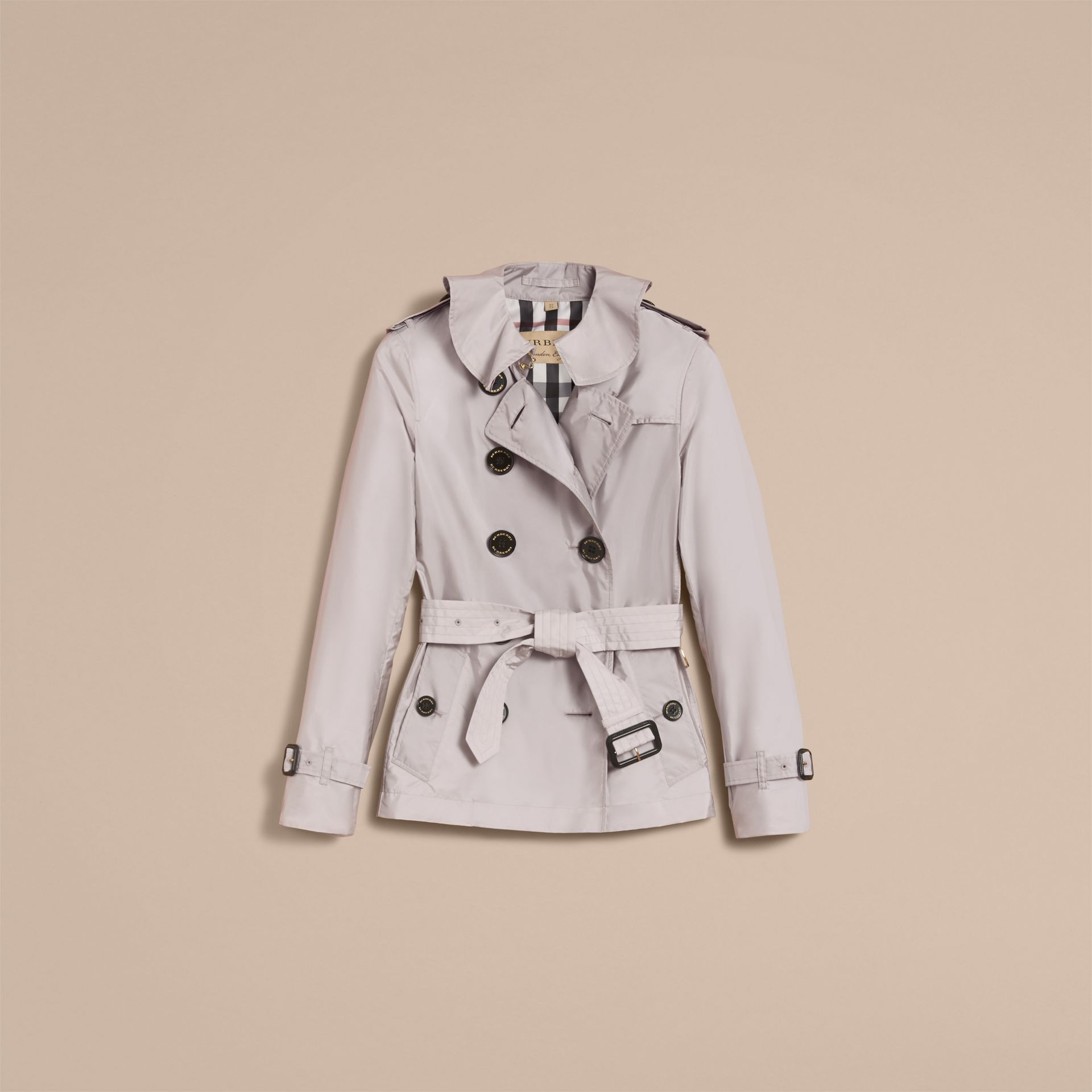 Showerproof Trench Coat Pale Grey - gallery image 4
