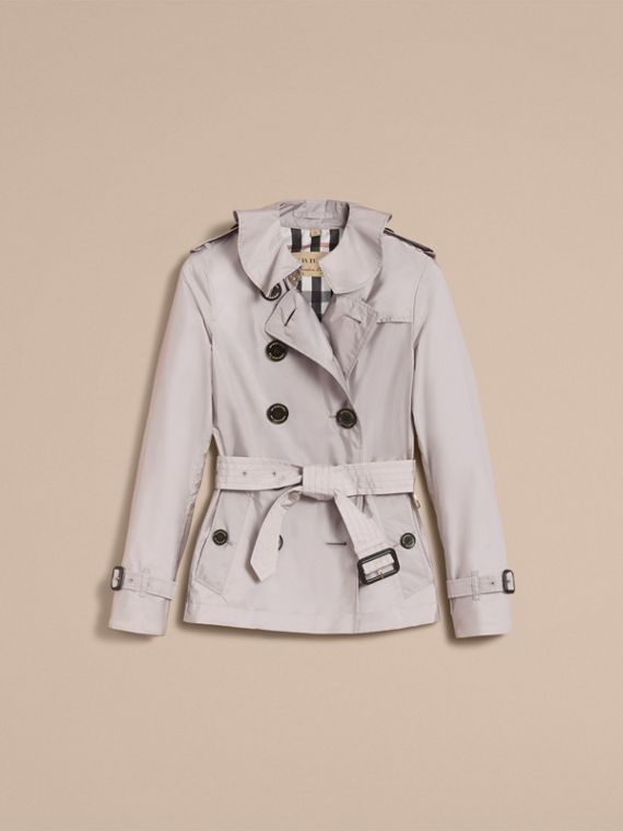 Showerproof Trench Coat Pale Grey - cell image 3