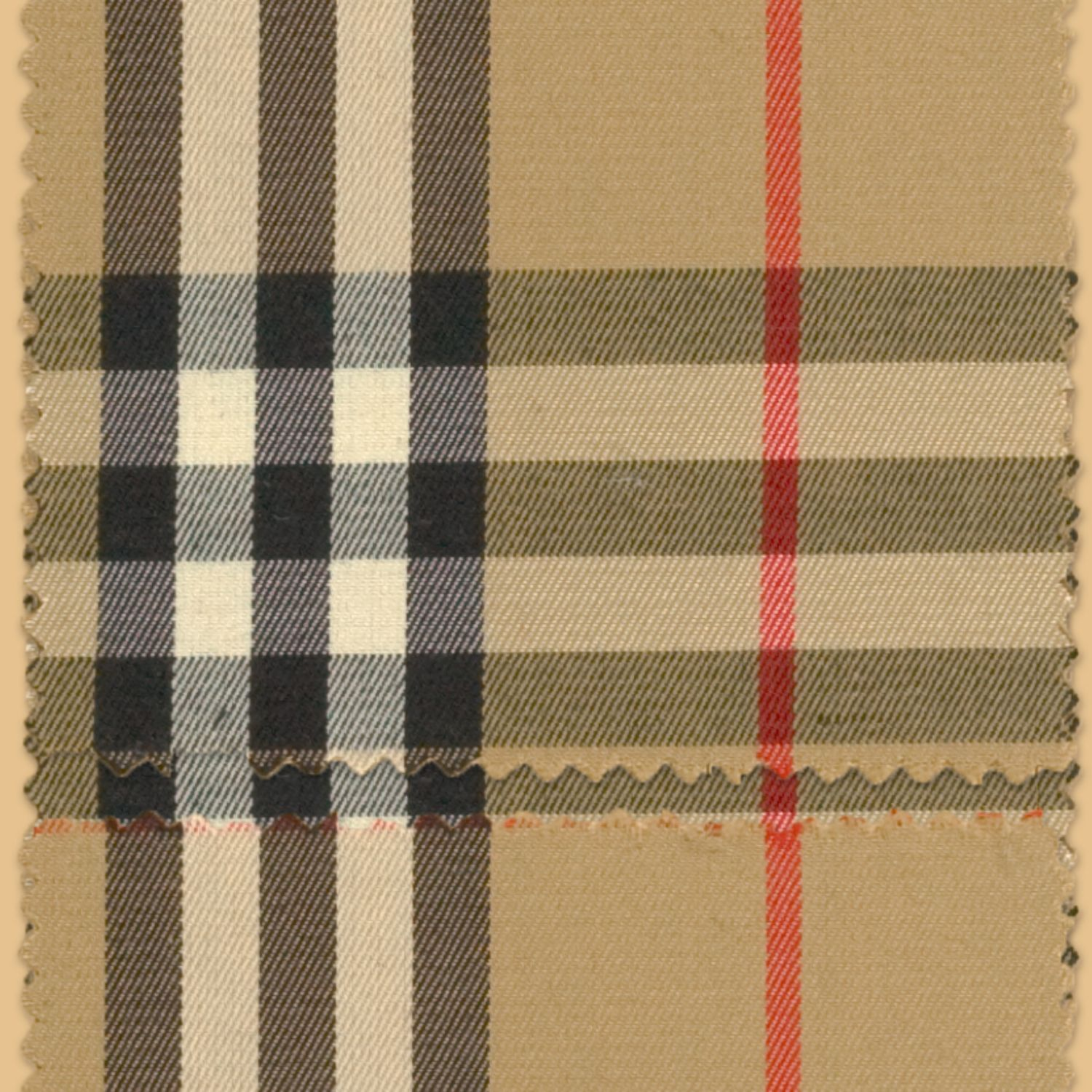 The Burberry check, now registered as a trademark, is introduced as a lining to our rainwear.