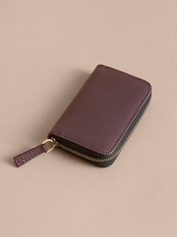 Trench Leather Ziparound Coin Case Wine - cell image 2