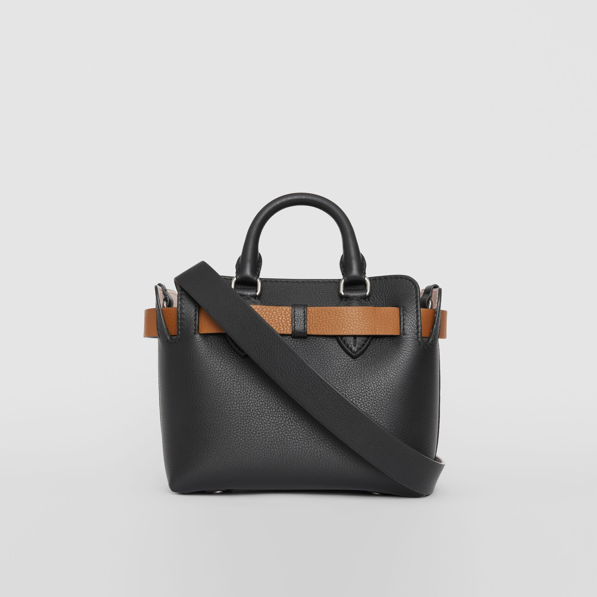 The Mini Leather Belt Bag in Black - Women | Burberry United Kingdom - gallery image 4