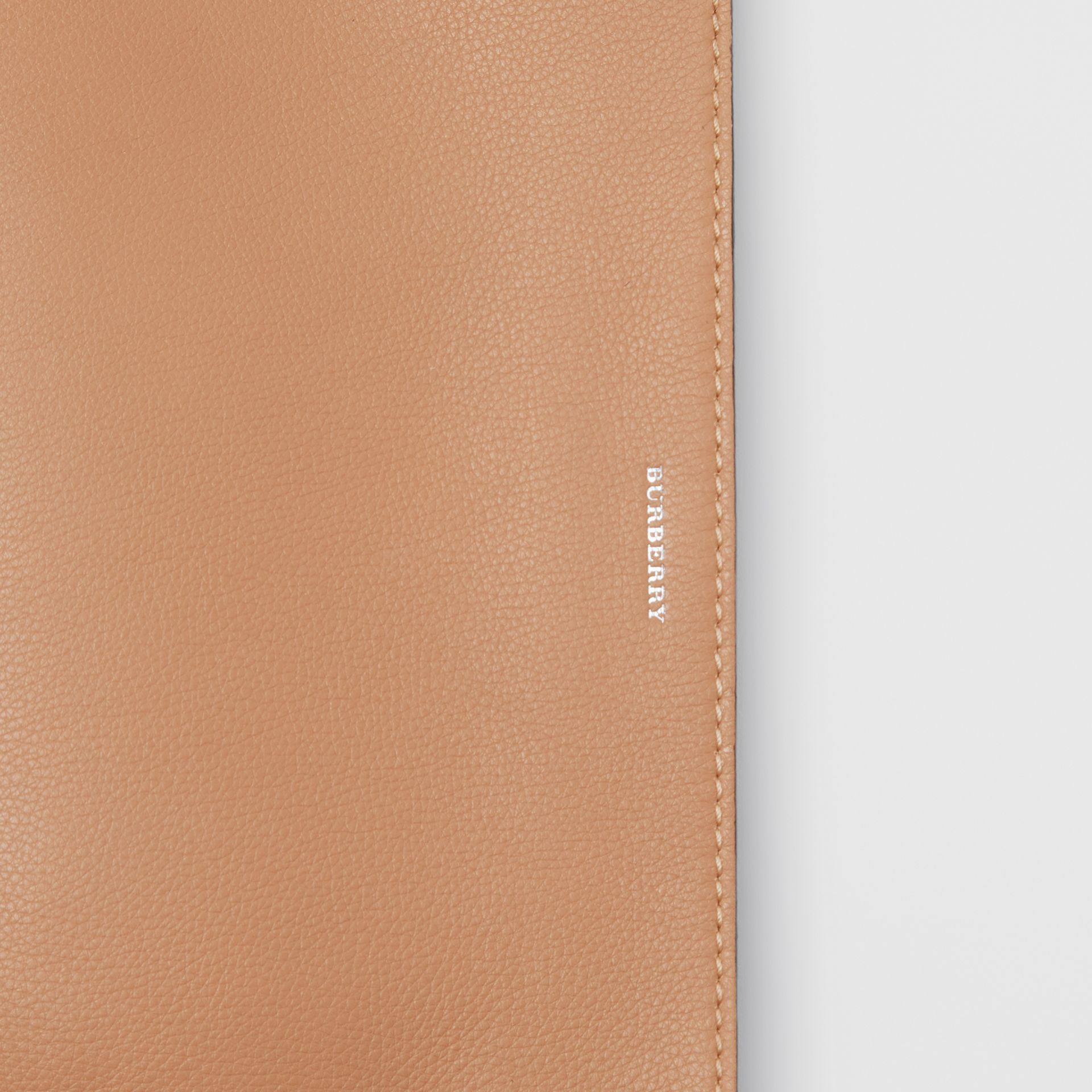 Medium Two-tone Leather Clutch in Light Camel/chalk White - Women | Burberry United States - gallery image 1